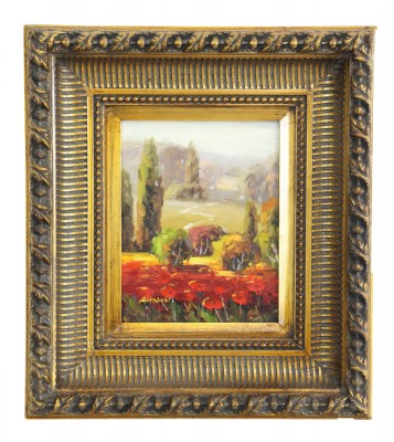 Gold Framed Tuscan Scene Oil