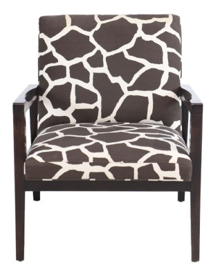 Sammy Cow Pattern Wooden Framed Armchair