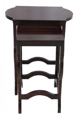 Pair of Stacking Mahogany Tables