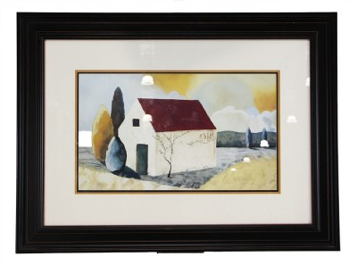 """ Country House"" Print- Nicely Framed"