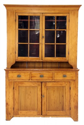 Antique Chestnut Display Hutch
