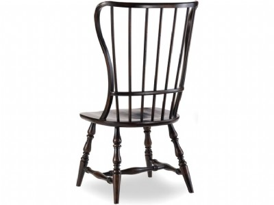 Ebony Spindle Side Chair