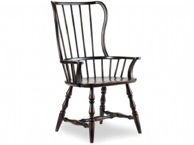 Ebony Spindle Arm Chair