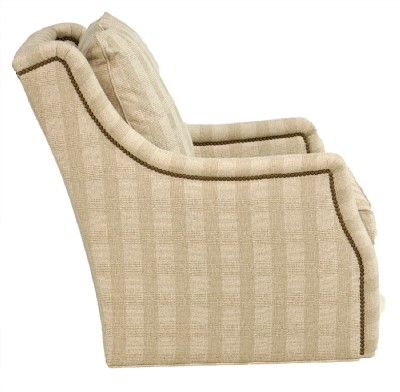 High Back Upholstered Swivel Chair