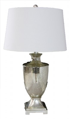 Silvered Glass Table Lamp