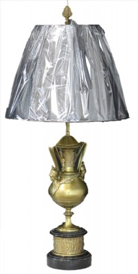Pair of Vintage Brass Urn Lamps