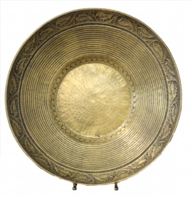 Asian Style Brass Bowl on Stand