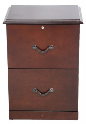 Wooden Two Drawer Filing Cabinet