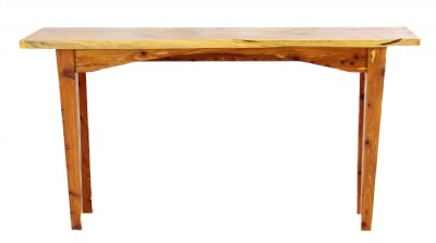 Live Edge Wooden Console Table