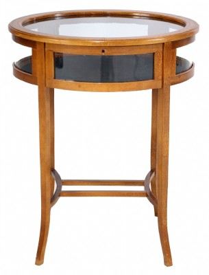 Inlaid Satinwood Oval Display Table