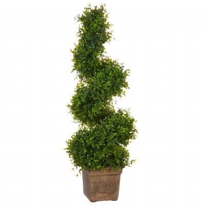 """27.5"""" Spiral Boxwood Topiary"""