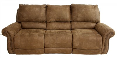 Light Brown Faux Leather Sofa Set