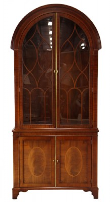 Baker Knapp & Tubbs Barrel Top Display Cabinet