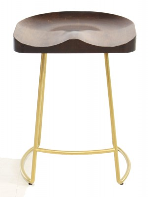 Gold Base Counter Stool