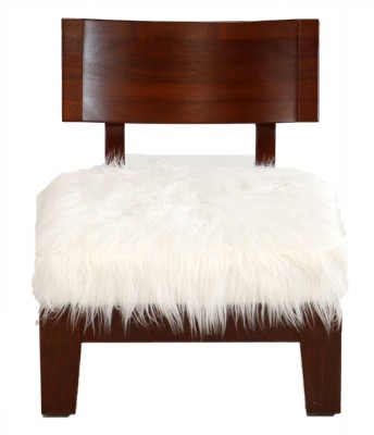 Contemporary Mahogany Side Chair