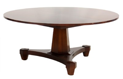 Round Wooden Pedestal Dining Table