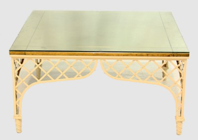 Brass Top Cocktail Table