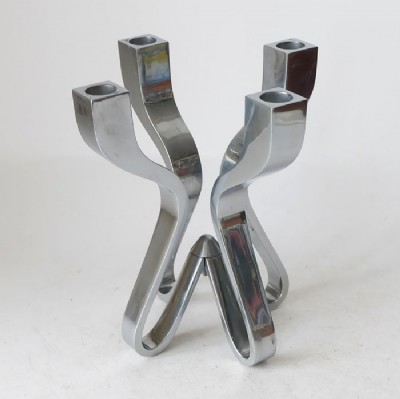 Pair of Heavy Metal Candlesticks