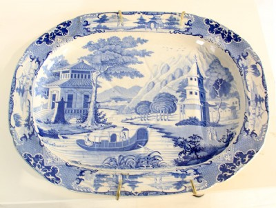 Blue & White Porcelain Tray