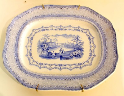 Light Blue & White Porcelain Tray