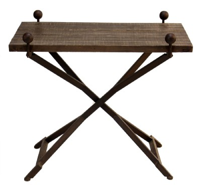 X Base Wooden Table