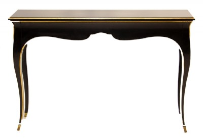 Black Painted Gold Trim Highlighted Counsole Table