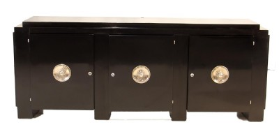 Black Laquered Art Deco Console