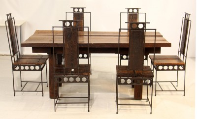 Artisan Crafted Farm Table & Chairs