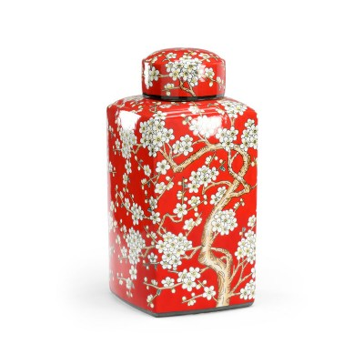 Painted Red Canister