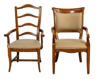 Set of Six Wooden Frame Dining Chairs