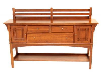 Arts & Crafts Cherry Sideboard Server