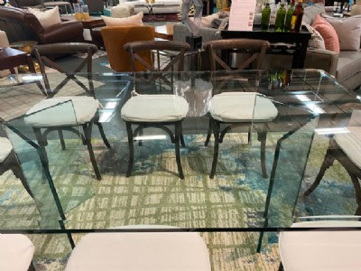 Custom Made Glass Dining Table
