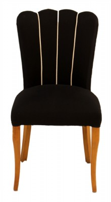 Set of 10 Scalloped Back Dining Chairs