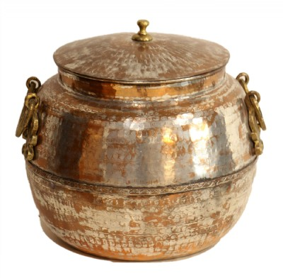 Hammered Copper Distressed Pot