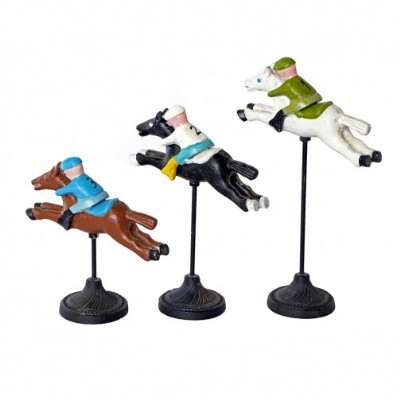Set of 3 Horse and Jockey Stands