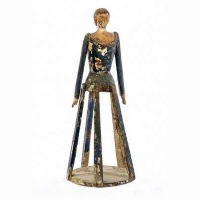 Wooden Figure on Stand