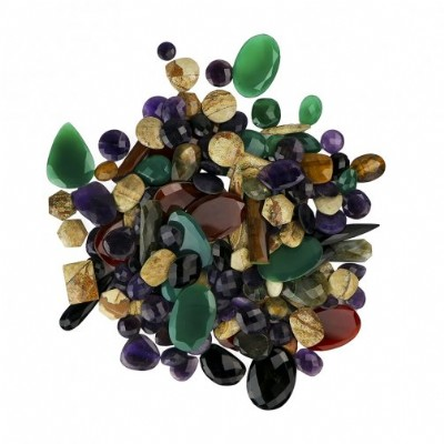 Mixed Faceted Cabochon Stones