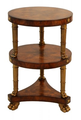 Round Marquetry Pedestal Table