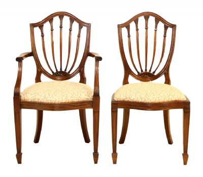 Set of 8 Shield Back Dining Chairs