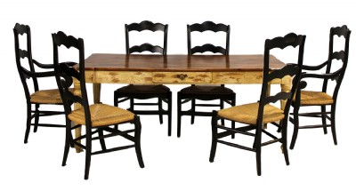 Two Tone Dining Table & Chairs