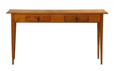 Tiger Maple Console Table by Curt Brown
