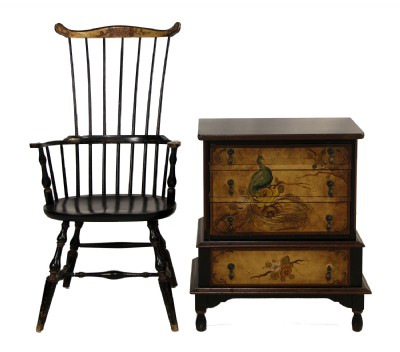 Chest of Drawers and Matching Spindleback Chair