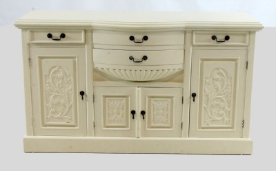White Painted Mahogany Sideboard