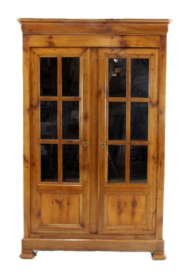Antique Chestnut Display Cabinet