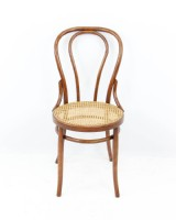 Bentwood Cane Round Seat Side Chair