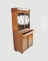 Antique 1800s Flame Mahogany Hutch