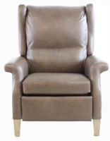 Track Style Leather Recliner