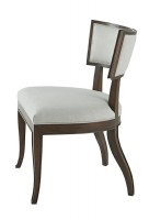 MAHOGANY UPHOLSTERED SIDE CHAIR