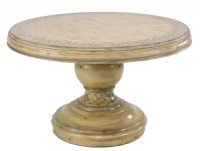 Hand Painted Round Pedestal Table