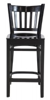 Set of Two Black Painted Counter Stools